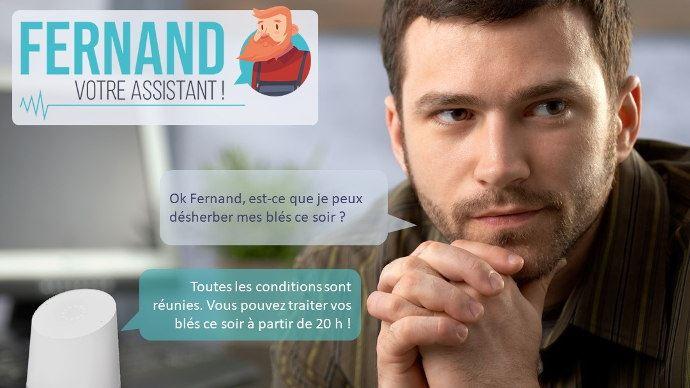 Posez directement vos questions à Fernand, il recherche ensuite vos réponses (©Isagri)