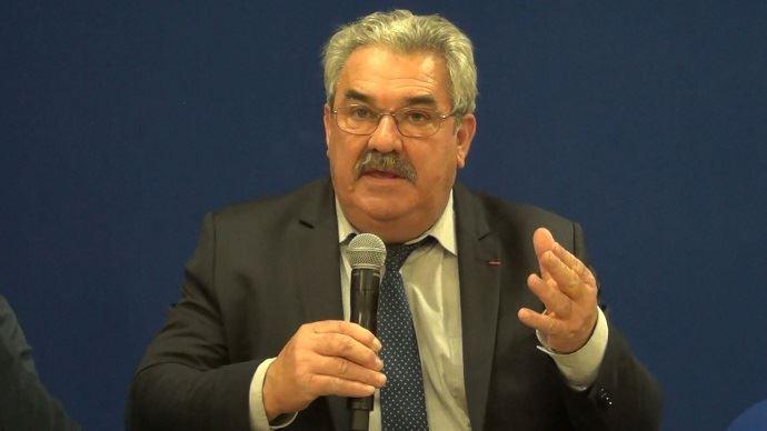 Jean Mouzat, président du Modef, lors du grand débat des élections chambres d'agriculture le 19 décembre 2018 à Paris. (©TNC)