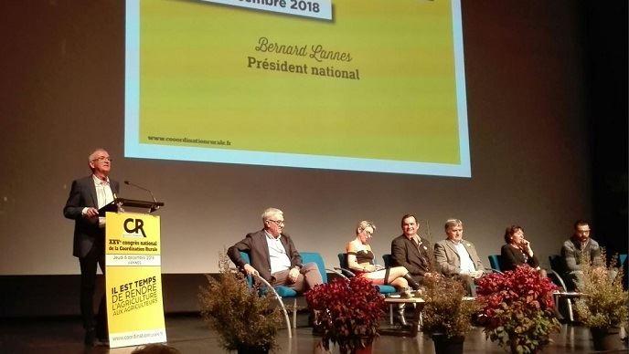 À Vannes, les leaders de la Coordination rurale ont chauffé la salle en vue des élections des chambres d'agriculture. (©TNC)