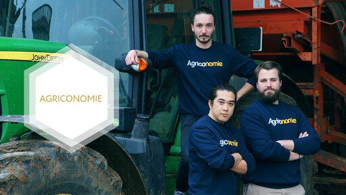 De gauche à droite: Paolin Pascot, Dinh Nguyen et Clément Le Fournis, les fondateurs d'Agriconomie (©Inpi)