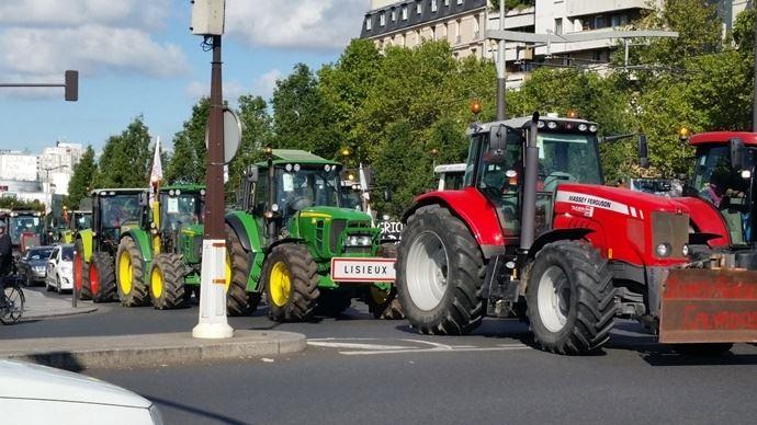 Les agriculteurs prévoient de manifester pendant toute une semaine. (©TNC)