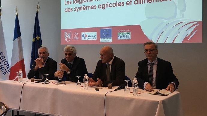 Hervé Morin, président de la région Normandie et des Régions de France, et Alain Rousset, président de la région Nouvelle-Aquitaine, ont mis la pression sur l'Exécutif pour obtenir la gestion complète du second pilier de la Pac. (©@RégionsdeFrance)