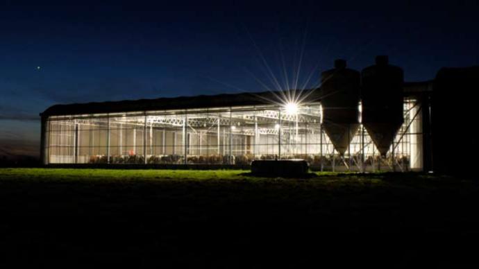 Le système d'éclairage Lely L4C Led adapte automatiquement l'intensité des ampoules pour répondre à la luminosité voulue. (©TNC)