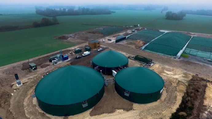 Noyen-sur-Seine, en Seine-et-Marne, fait partie, depuis sa mise en service en 2017, des sites de méthanisation qui injectent directement le biogaz dans le réseau de gaz français. (©©Sebastien Villotte / GRTgaz))