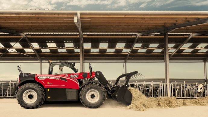 Le télescopique Case IH Farmlift 636 gagne 100kg de charge. (©Case IH)