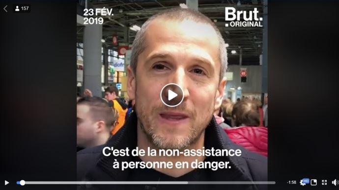 Guillaume Canet au Salon de l'agriculture interviewé par Brut (©Brut)