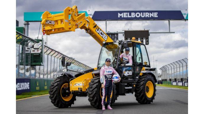 15 télescopiques JCB ont assisté au Grand Prix de Formule 1 à Melbourne en Australie. (©JCB)