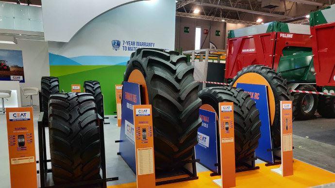 Ceat présente déjà une gamme de pneumatiques agricoles conséquente. (©Ceat)