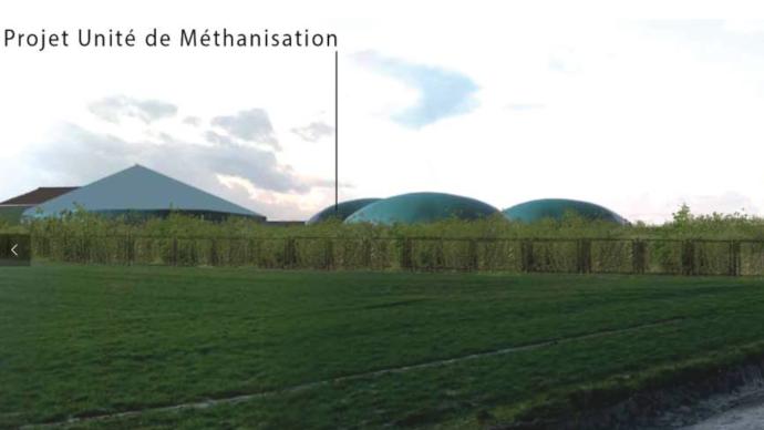 Le méthaniseur de la SARL Biogy a failli ne jamais sortir de terre. (©Biogy)