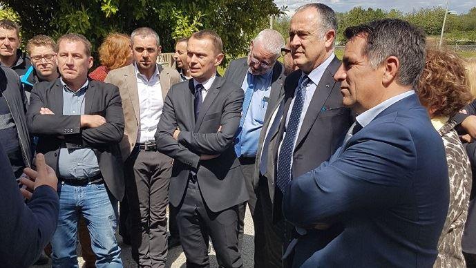 Le ministre de l'agriculture était en déplacement dans la Drôme et en Ardèche vendredi 26 avril 2019. (©@dguillaume26)