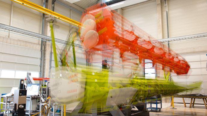 Claas test Center, tester des barres de coupe jusqu'à 12 mètres (©Claas)