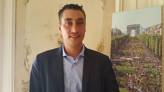 Samuel Vandaele, auparavant secrétaire général de Jeunes agriculteurs, a remplacé Jérémy Decerle à la présidence du syndicat. (©TNC)