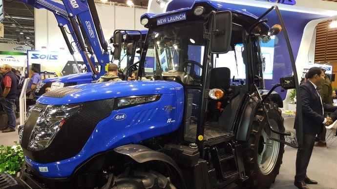 Solis 75N Crdi présenté en France su Sima. Le constructeur ouvre la porte de l'agriculture. (©TNC )