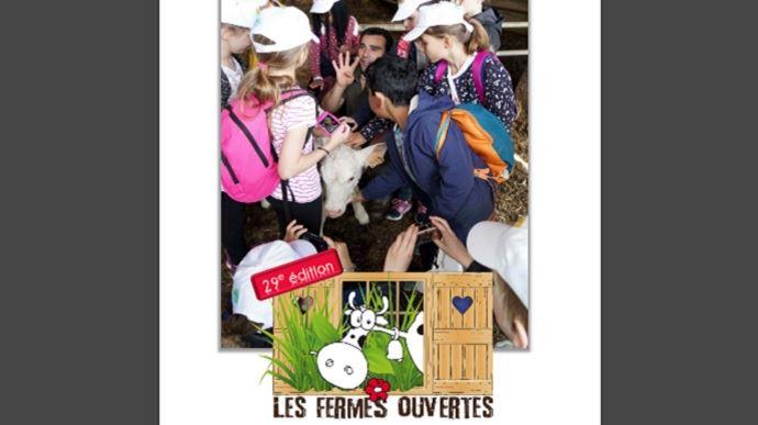 Du 20 mai au 30 juin danstoute la France, des agriculteurs(.trices) bénévoles ouvrent les portes de leur ferme aux élèves de CM1-CM2 et à leurs enseignants.(©FNSEA)