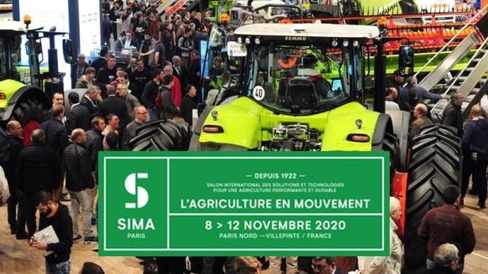 Le Sima s'offre un nouveau logo pour son centenaire en 2022. (©Comexposium)