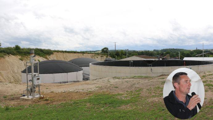 Le méthaniseur de l'EARL du four à chaux dans la Somme génère 200 kW d'électricité et produit de la chaleur pour chauffer quatre maisons et un séchoir. (©TNC)