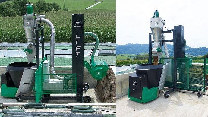 Wasserbauer présente Lift: un système de désilage automatisé qui permet au robot d'alimentation d'aller se servir seul au silo couloir. (©Wasserbauer GMBH)