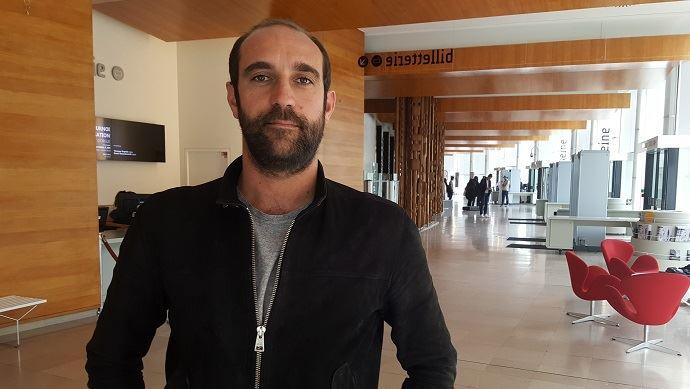 Edouard Bergeon, réalisateur du film Au nom de la terre, ici à l'issue d'une émission enregistrée sur France Inter autour de son film.