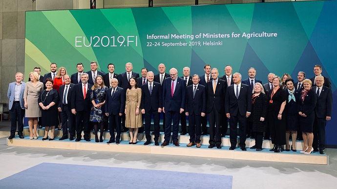 Les ministres européens de l'agriculture se sont retrouvés à Helsinki pour évoquer notamment la réforme de la Pac. (©Compte twitter Didier Guillaume)