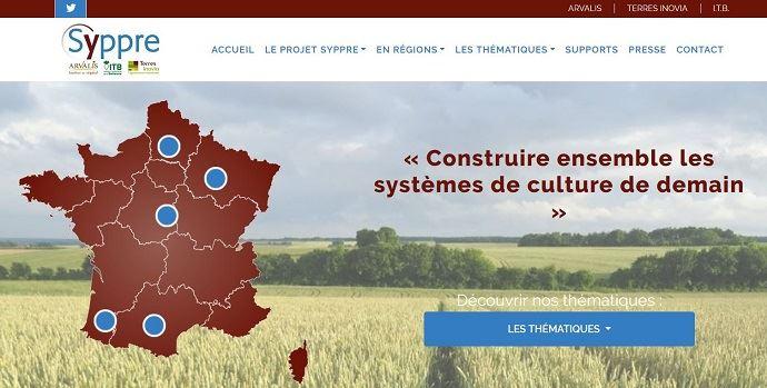 Les cinq fermes expérimentales du réseau Syppre sont basées dans les principaux bassins céréaliers de France: Laurageais, Picardie, Berry, Champagne et Béarn. (©Syppre)