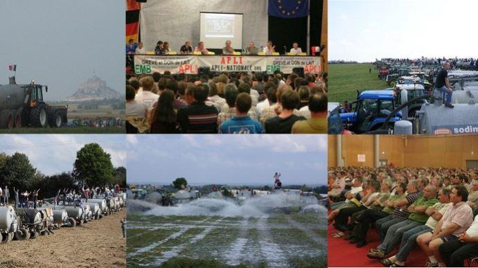 En septembre 2009, les éleveurs de l'Apli passaient à l'action et entamaient, le 10, la grève du lait. (©Apli nationale et TNC)