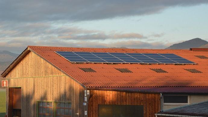 Une installation solaire peut assurer de 40 à 70% des besoins énergétiques nécessaires à la production d'eau chaude sanitaire en élevage bovin. (©TNC)
