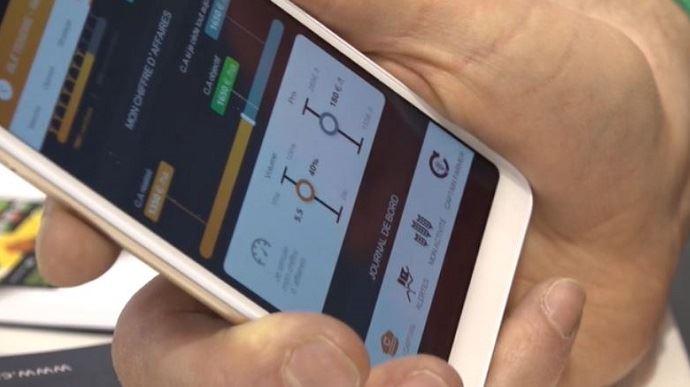 Sébastien Poncelet, de la société Agritel, a développé Captain Farmer, une nouvelle appli pour aider les agriculteurs à se positionner sur les marchés des grains. (©TNC)