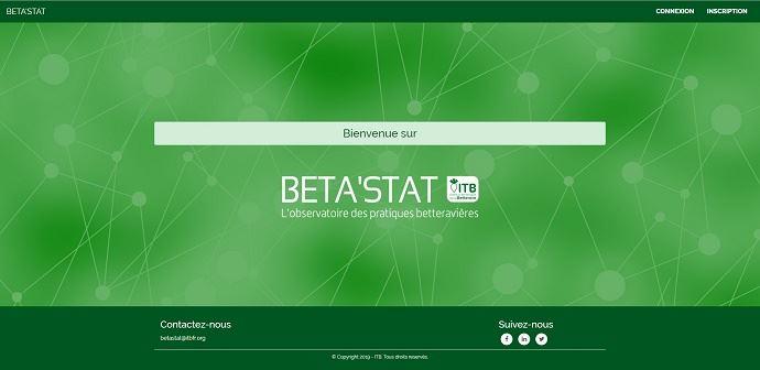 Beta'Stat est disponible en ligne sur le site web de l'ITB, dans la rubrique