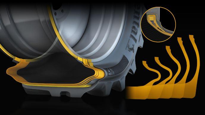 Continental intègre la technologie VF à sa gamme pour répondre aux exigences accrues des pneus agricoles. (©Continental)
