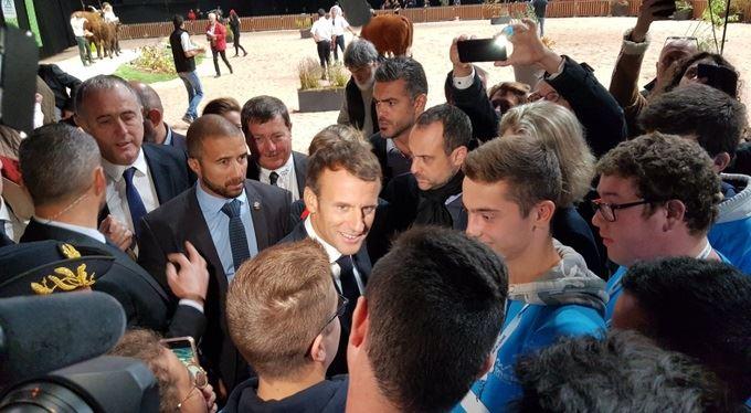 Emmanuel Macron au Sommet de l'élevage 2019. (©Compte twitter ministère de l'agriculture)