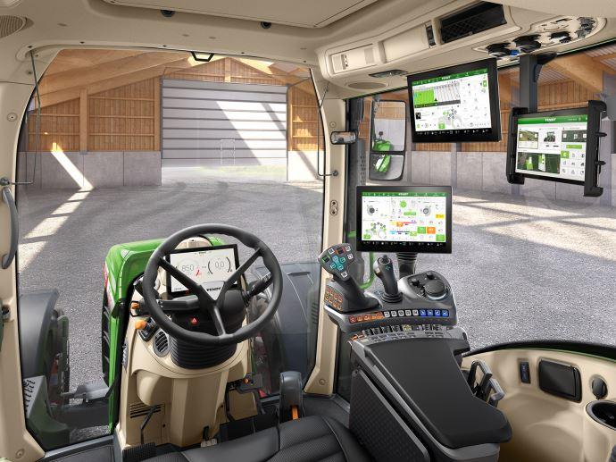 La gamme 700 Vario et le 314 Vario bénéficient de la nouvelle cabine Fendt 2.0. (©Agco)