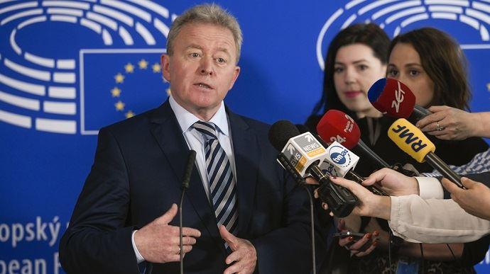 Janusz Wojciechowski, eurodéputé polonais et prétendant au poste de commissaire européen à l'agriculture dans l'équipe d'Ursula von der Leyen, a été auditionné mardi 1er octobre par les eurodéputés de la commission agriculture. (©Parlement européen)