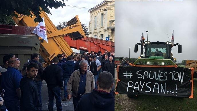 Les agriculteurs ont déjà manifesté le 8 octobre à l'appel de la FNSEA et de JA sous le slogan commun