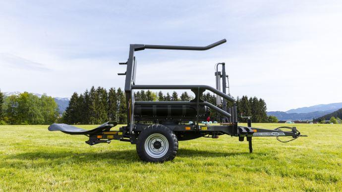 L'enrubanneuse traînée à balles MF TW 160 sera présentée au salon Agritechnica 2019. (©Agco)