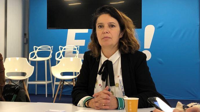 La députée européenne Irène Tolleret, au siège d'En Marche. (©TNC)