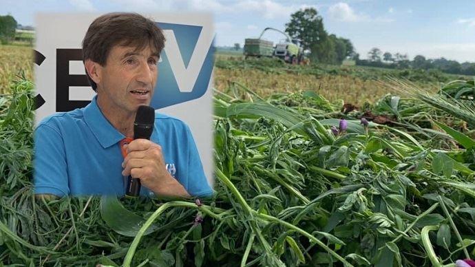 Éleveur de vaches laitières à Bagnole de l'Orne (61), Anton Sidler est aussi co-gérant de La Vache Heureuse, une entreprise qui cherche à informer et divulguer des résultats expérimentaux et savoir-faire du terrain, et propose du conseil individualisé. (©TNC/LVH)