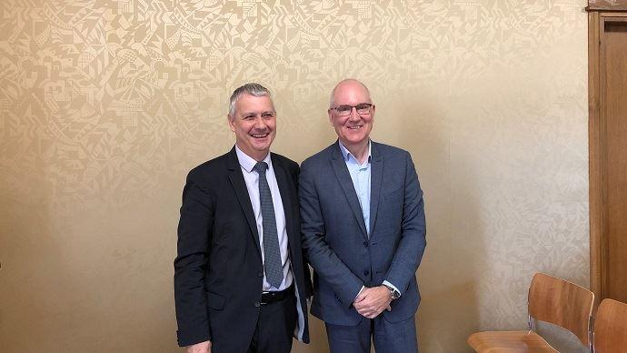 Claude Tabel et Franck Berger, vice-président et président de l'UFS (©TNC)