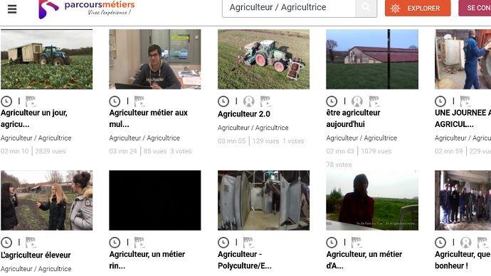 11 vidéos présentent le métier d'agriculteur sur la plateforme internet parcoursmetiers.tv. (©parcoursmetier.tv)