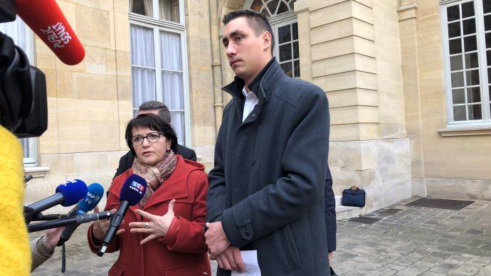 Àl'issue de leur rendez-vous, Christiane Lambert et Samuel Vandaele estiment avoir été écoutés par le Premier ministre. (©TNC)