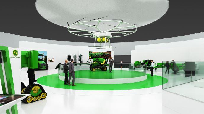 John Deere a créé une zone dédiée aux solutions du futur lors du salon Agritechnica 2019. (©John Deere)