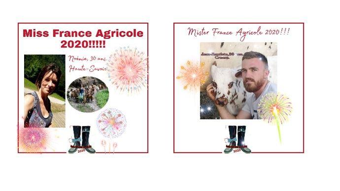 Noémie et Jean-Baptiste, Miss et Mister agri 2020 (©Concours miss mister France Agricole)