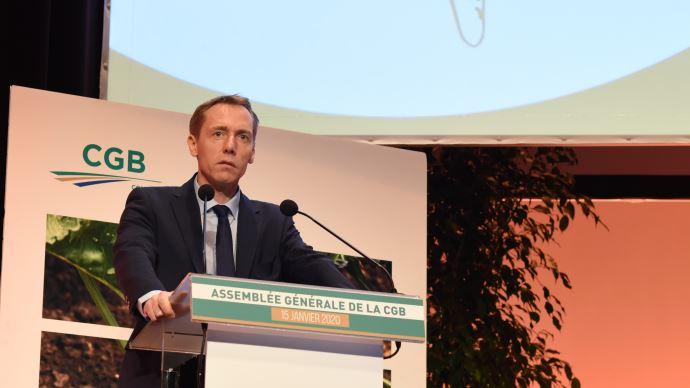 Franck Sander, président de la CGB, lors de l'assemblée générale du 15 janvier. (©TNC)