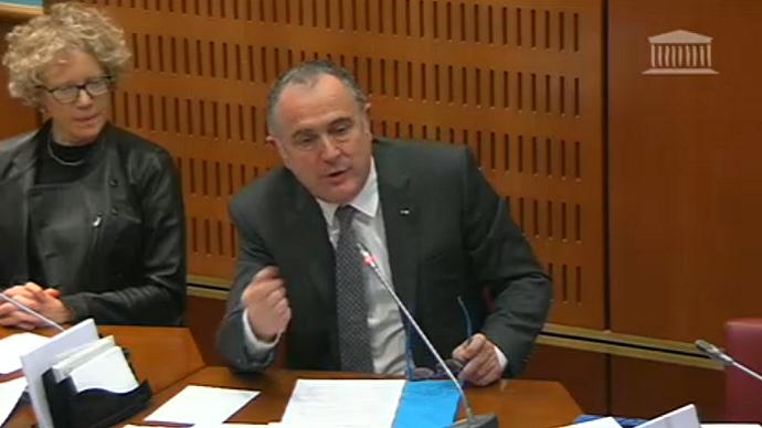 Didier Guillaume devant la mission parlementaire de suivi de la stratégie de sortie du glyphosate, le 9 janvier.(©capture d'écran Assemblée nationale)