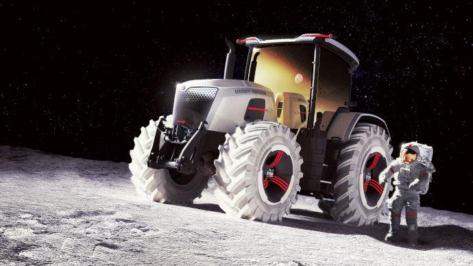 Massey Ferguson dévoile sa vision des tracteurs du futur. Le concept Next. (©Massey Ferguson)