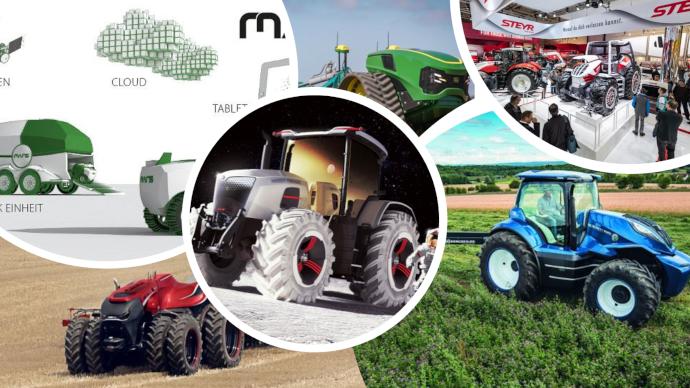Les constructeurs ne manquent pas d'imagination: tracteur autonome, hybride, électrique, au gaz... il devrait y en avoir pour tous les goûts! (©TNC)
