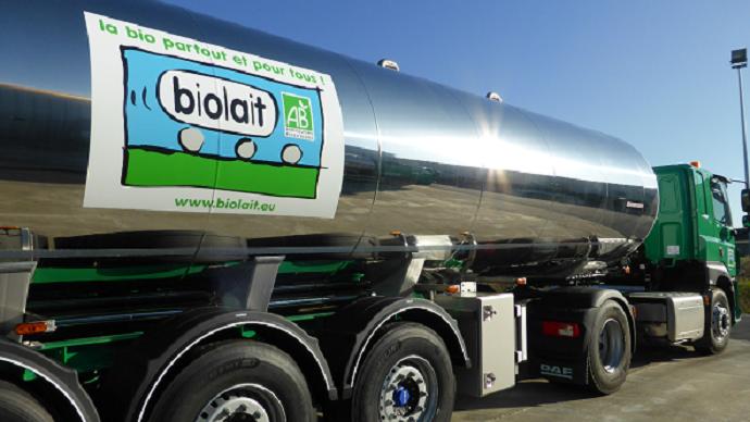 Le prix du lait Biolait s'élève à 470,59€/1000l sur 2019. (©Biolait)