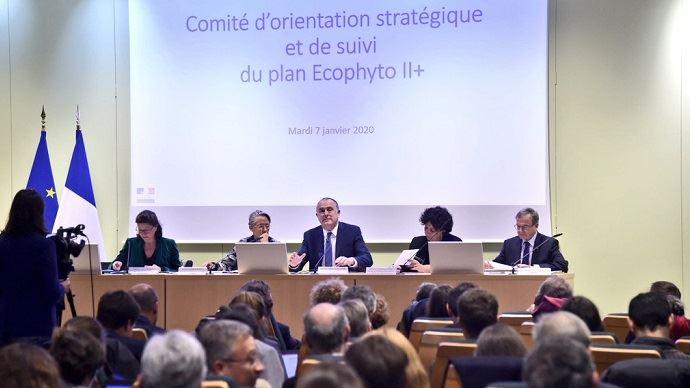 Les indicateurs de suivi des ventes de produits phytosanitaires seront disponibles six mois plus tôt, a annoncé le comité d'orientation et de suivi du plan Ecophyto le 7 janvier. (©compte Twitter de Didier Guillaume)