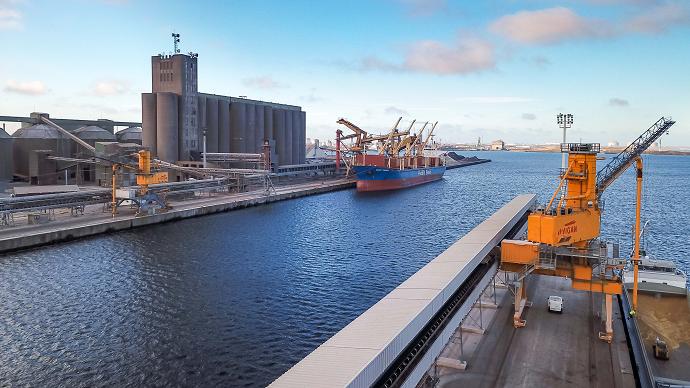 En décembre 2019, 1,34 Mt de blé français ont été exportées par bateau (intra et hors UE), le plus haut niveau depuis 2013, en dépit des grèves. (©TNC)