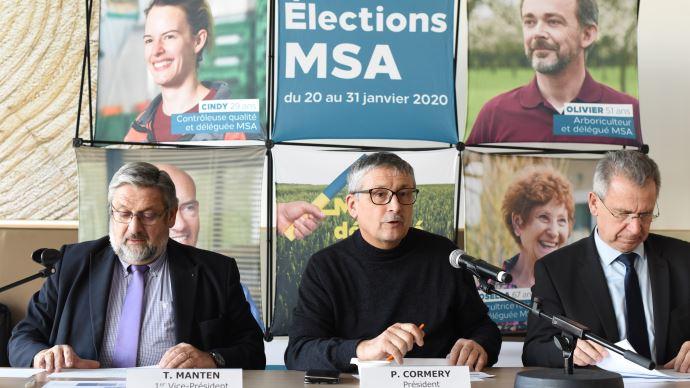 Thierry Manten, Pascal Cormery et François Emmanuel Blanc commentent le résultat des élections MSA 2020 (©TNC)