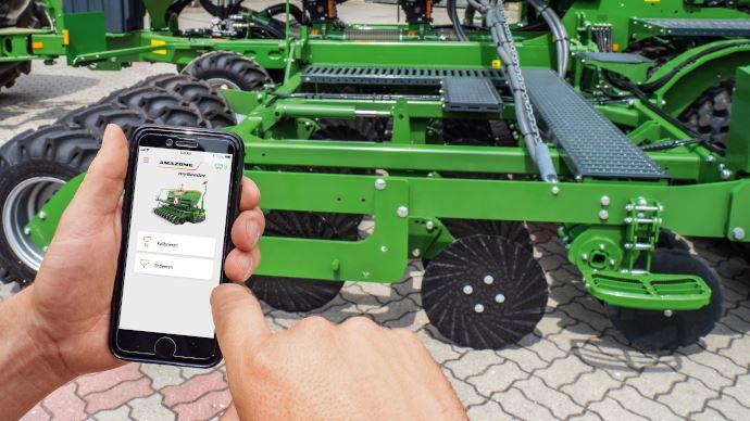 L'application smartphone Amazone mySeeder étalonne le semoir via la connexion Bluetooth. (©Amazone)